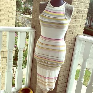 🌵Ted Baker Midi Strip Body-con Dress sz 1